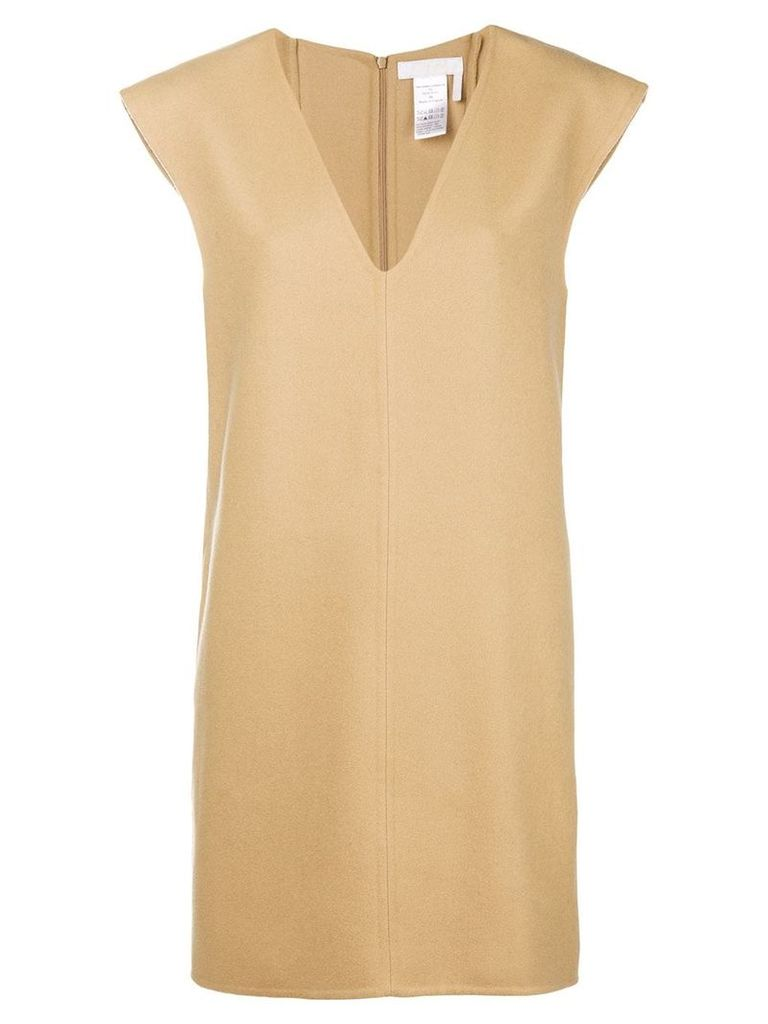 Chloé V-neck shift dress - Neutrals