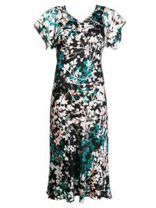 Roberto Cavalli floral print midi dress - Black