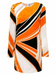 Emilio Pucci velvet abstract print dress - Yellow