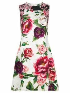 Dolce & Gabbana peony-print dress - White