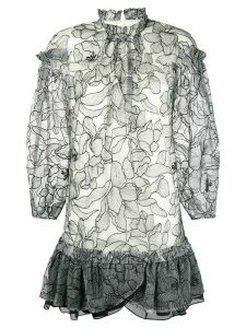 Three Floor floral lace loose dress - White