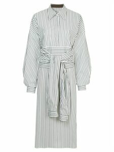 Ll By Litkovskaya mid-length shirt dress - White