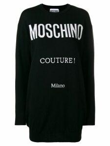 Moschino logo intarsia knit dress - Black