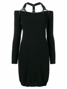 Moschino shoulder strap mini dress - Black