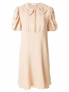 Chloé piped collar skater dress - Neutrals