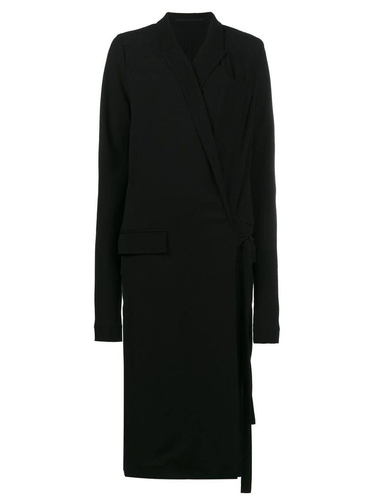Haider Ackermann Mid-Length Wrap Dress - Black