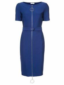 Mugler ring pull fitted dress - Blue