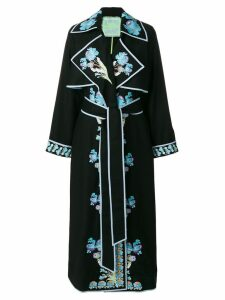 Yuliya Magdych Opium embroidered wrap dress - Black