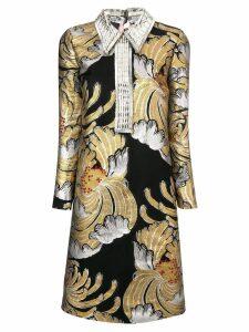 Rochas metallic brocade dress - Multicolour