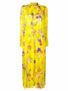 Preen By Thornton Bregazzi Lupin floral flared dress - Yellow