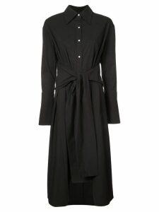 Proenza Schouler Poplin Wrap Dress - Black