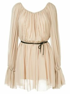 Mugler Georgette dress - Neutrals