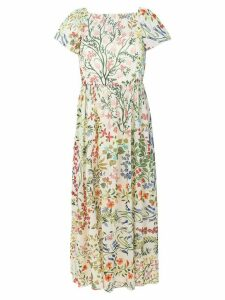 Red Valentino floral print midi dress - Multicolour
