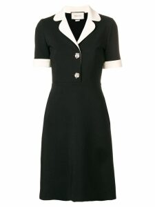 Gucci contrast trim jersey dress - Black