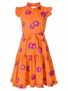 La Doublej floral print ruffle dress - Yellow