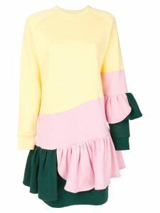 Ioana Ciolacu layered frill-hem dress - Yellow