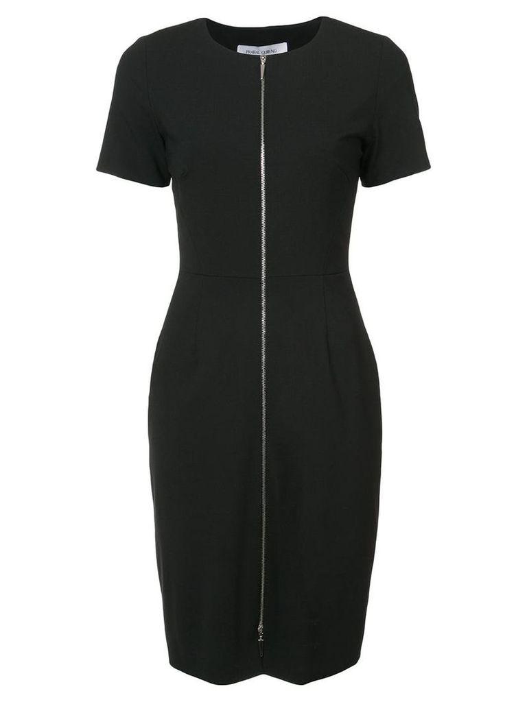 Prabal Gurung zip front fitted dress - Black