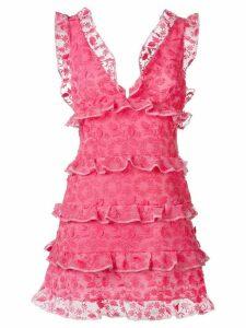 Giamba ruffled dress - Pink