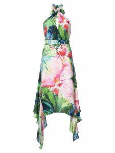 Josie Natori Sunset Palms halter dress - Multicolour