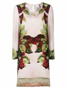 Antonio Marras embellished printed shift dress - Pink
