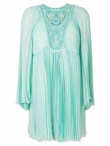 Chloé micro pleated silk dress - Blue