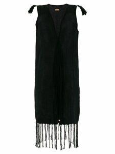 Caravana Voltan jute sleeveless tassel dress - Black
