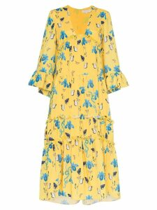 Borgo De Nor iris floral print dress - Yellow