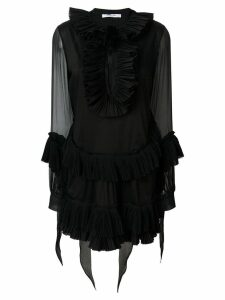 Givenchy pleated A-line short dress - Black