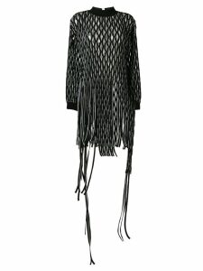 1017 ALYX 9SM cut out tassel sweatshirt dress - Black