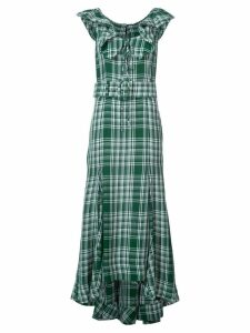 Rosie Assoulin crinkle plaid dress - Green