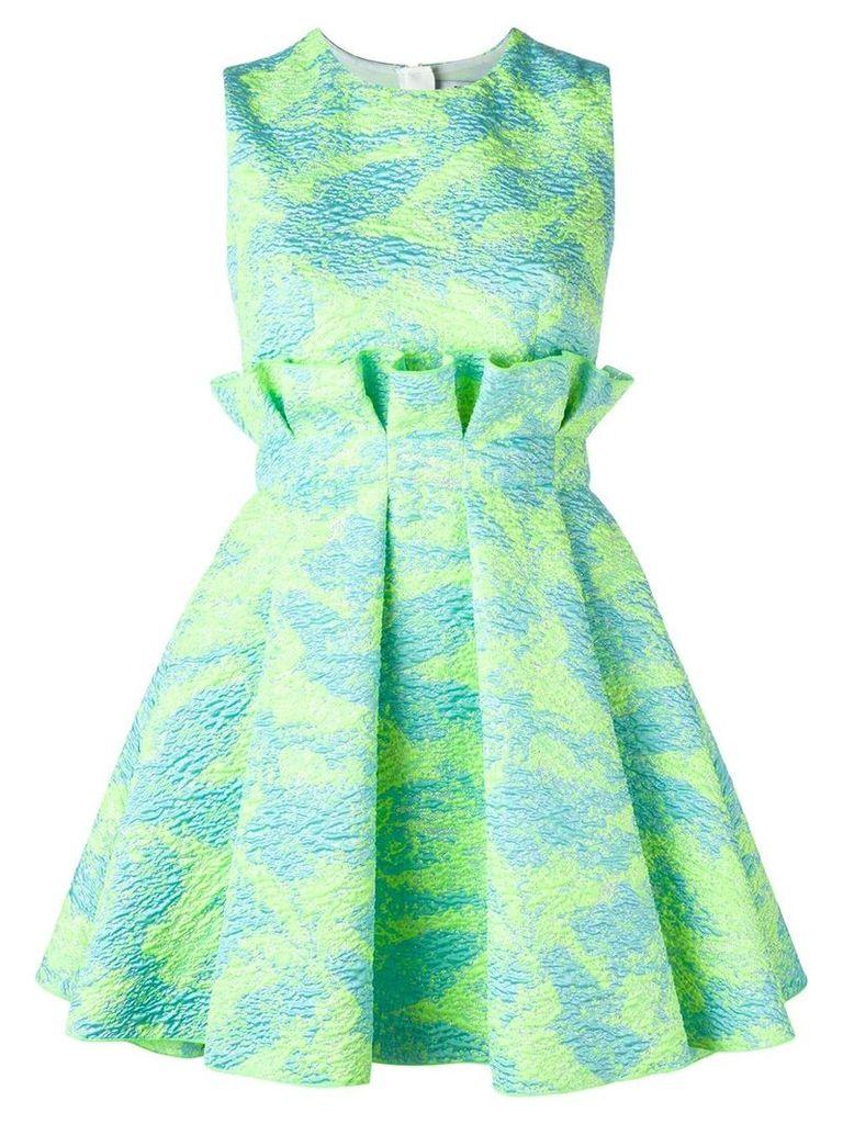 MSGM jacquard mini dress - Green