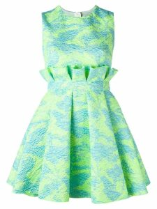 MSGM jacquard mini dress - Green