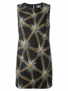 Fausto Puglisi sun and chain print dress - Black