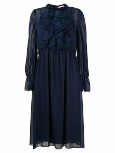 See By Chloé frilly midi dress - Blue