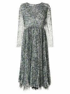 Philosophy Di Lorenzo Serafini patterned lace-trimmed dress - White