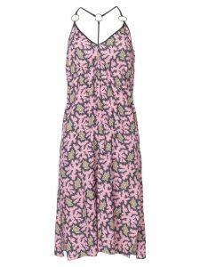 Victoria Victoria Beckham printed flared midi dress - Pink