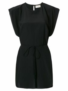 Saint Laurent tie waist mini dress - Black
