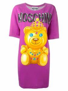 Moschino bear print T-shirt dress - Pink