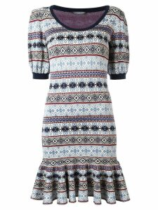 Alexander McQueen jacquard dress - Multicolour
