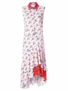 Preen By Thornton Bregazzi ruffle hem shirt dress - Pink