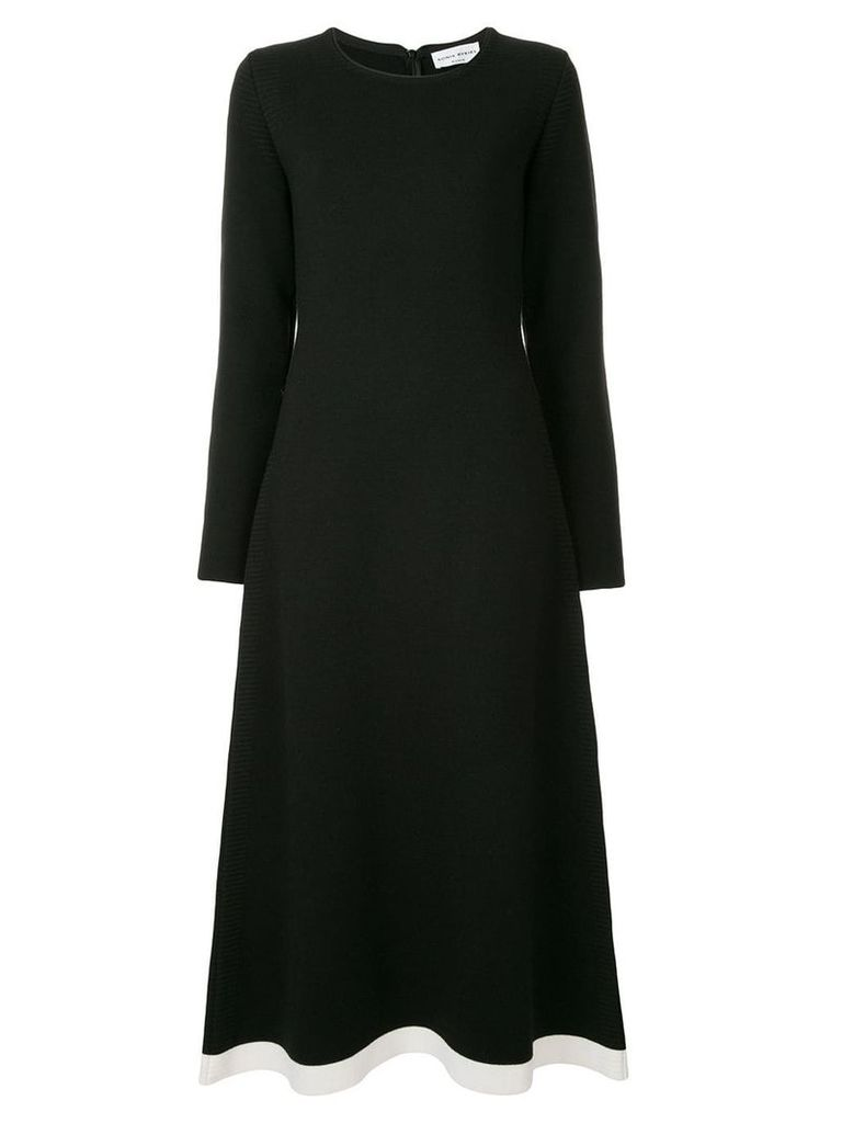 Sonia Rykiel contrast hem dress - Black