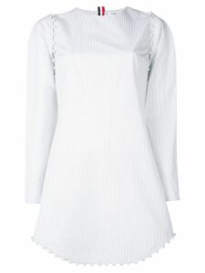 Thom Browne University Stripe Bridal Dress - White