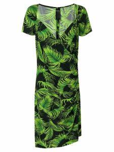 Norma Kamali mid-length printed dress - Green
