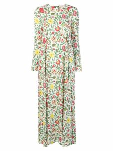 La Doublej Dragon Flower print maxi dress - White