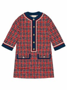 Gucci Tweed check tunic dress - Red
