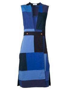 Rodebjer patchwork sleeveless midi dress - Blue