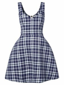 Natasha Zinko plaid dress - Blue