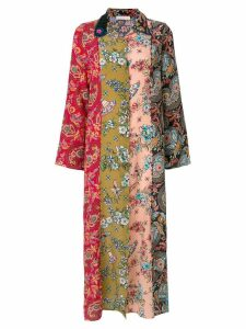 Anjuna multi-pattern shirt dress - Multicolour