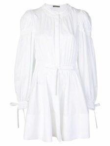 Alexander McQueen gathered sleeve dress - White