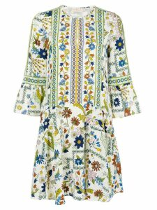 Tory Burch all-over print dress - White